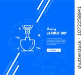happy labour day design with... | Shutterstock .eps vector #1072258841