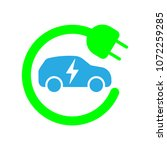 electric car refill icon ... | Shutterstock .eps vector #1072259285