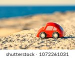 travel to the sea  small cars... | Shutterstock . vector #1072261031
