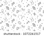 astrological signs and stars... | Shutterstock .eps vector #1072261517