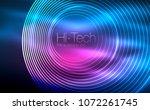 circular glowing neon shapes ... | Shutterstock .eps vector #1072261745