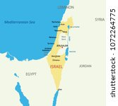 israel country map | Shutterstock .eps vector #1072264775