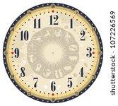 vintage clock face template... | Shutterstock .eps vector #107226569