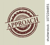 red approach distressed rubber ... | Shutterstock .eps vector #1072266851