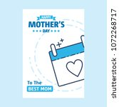 happy mothers day lettering.... | Shutterstock .eps vector #1072268717