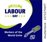 happy labour day design with... | Shutterstock .eps vector #1072270697