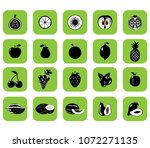 set of fruits and vegetables....   Shutterstock .eps vector #1072271135