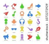 basic color design shapes icons ...   Shutterstock .eps vector #1072272929