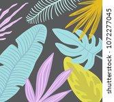 hello summer tropical pattern... | Shutterstock .eps vector #1072277045