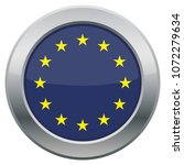 an eu flag icon isolated on a... | Shutterstock .eps vector #1072279634