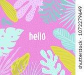 hello summer tropical banner... | Shutterstock .eps vector #1072279649