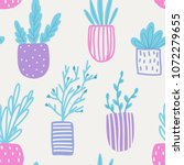 seamless pattern with flowers... | Shutterstock .eps vector #1072279655