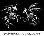 a gryphon skeleton and skeleton ... | Shutterstock .eps vector #1072280795