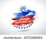 4th of july  celebration poster ... | Shutterstock .eps vector #1072280894