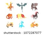 mythical and fantastic... | Shutterstock .eps vector #1072287077