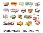 trendy speech bubbles set for...   Shutterstock .eps vector #1072287791