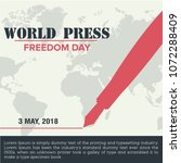 world press freedom day banner | Shutterstock .eps vector #1072288409