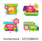 set of colorful labels... | Shutterstock .eps vector #1072288631