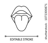 open female mouth linear icon.... | Shutterstock .eps vector #1072300871