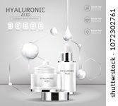 hyaluronic acid serum collagen... | Shutterstock .eps vector #1072302761