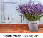 Bouquet Of Lavender In A Rusti...