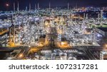 aerial top view oil and gas... | Shutterstock . vector #1072317281