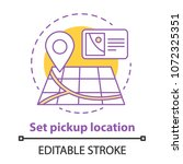 setting pick up location... | Shutterstock .eps vector #1072325351