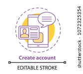 account creating concept icon.... | Shutterstock .eps vector #1072325354