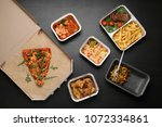 different containers with... | Shutterstock . vector #1072334861