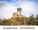 edinburgh nelson monument on... | Shutterstock . vector #1072335101