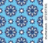 seamless oriental ornamental... | Shutterstock .eps vector #1072357331
