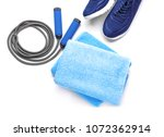jump rope  sneakers and clean... | Shutterstock . vector #1072362914