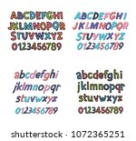colored latin alphabet.... | Shutterstock .eps vector #1072365251