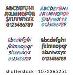 colored latin alphabet.... | Shutterstock .eps vector #1072365251