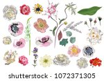 series of greeting backgrounds... | Shutterstock .eps vector #1072371305