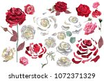 series of greeting backgrounds... | Shutterstock .eps vector #1072371329