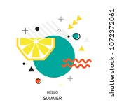 trendy style geometric pattern... | Shutterstock .eps vector #1072372061