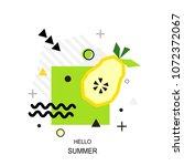 trendy style geometric pattern... | Shutterstock .eps vector #1072372067