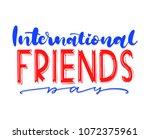 international friends day. best ...   Shutterstock .eps vector #1072375961