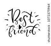 best friend. the inscription is ...   Shutterstock .eps vector #1072375964