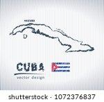 cuba vector chalk drawing map... | Shutterstock .eps vector #1072376837