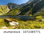 lake rohacske plesa in west... | Shutterstock . vector #1072385771
