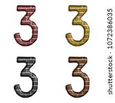 Assorted Color Brick Number...