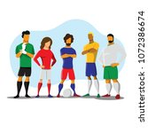 soccer players team group | Shutterstock .eps vector #1072386674