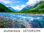 Mountain Wild River Landscape....