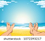 summer beach holiday by the... | Shutterstock .eps vector #1072393217