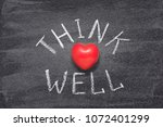 think well phrase handwritten... | Shutterstock . vector #1072401299