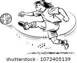 soccer player shoots the ball | Shutterstock .eps vector #1072405139