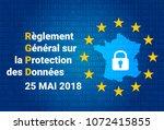 french rgpd   reglement general ... | Shutterstock .eps vector #1072415855
