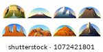 mountains peaks  landscape... | Shutterstock .eps vector #1072421801